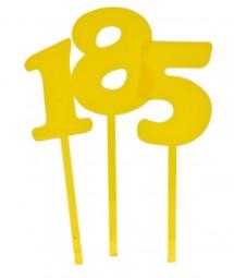 Zahlen-Stecker gelb: 0 bis 9