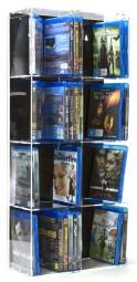 Blu-ray Modulregal 2-spaltig, 33,5 x 75 cm