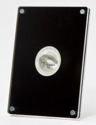 Stehender Münzrahmen für 1oz Sibermünzen d:40,7mm