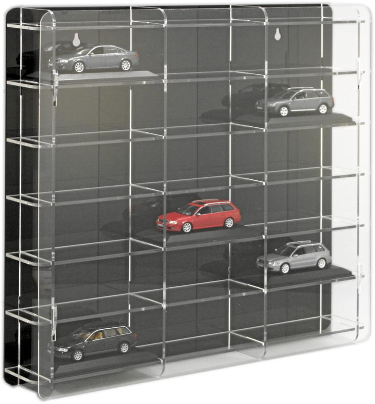 SORA Model Car Display Cabinet 1/43, back-panel: black | eBay