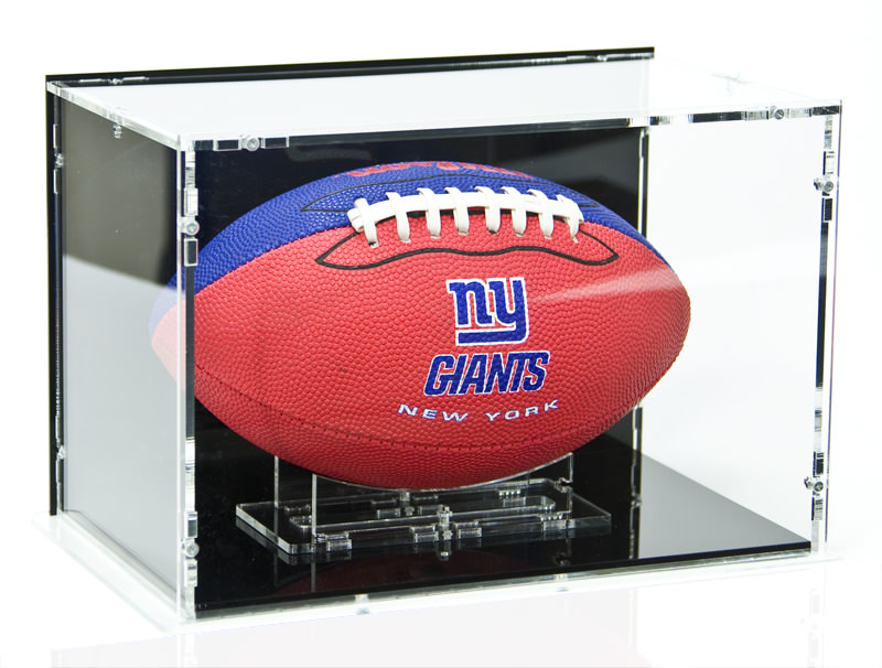 The American Football Display Case with Football Stand