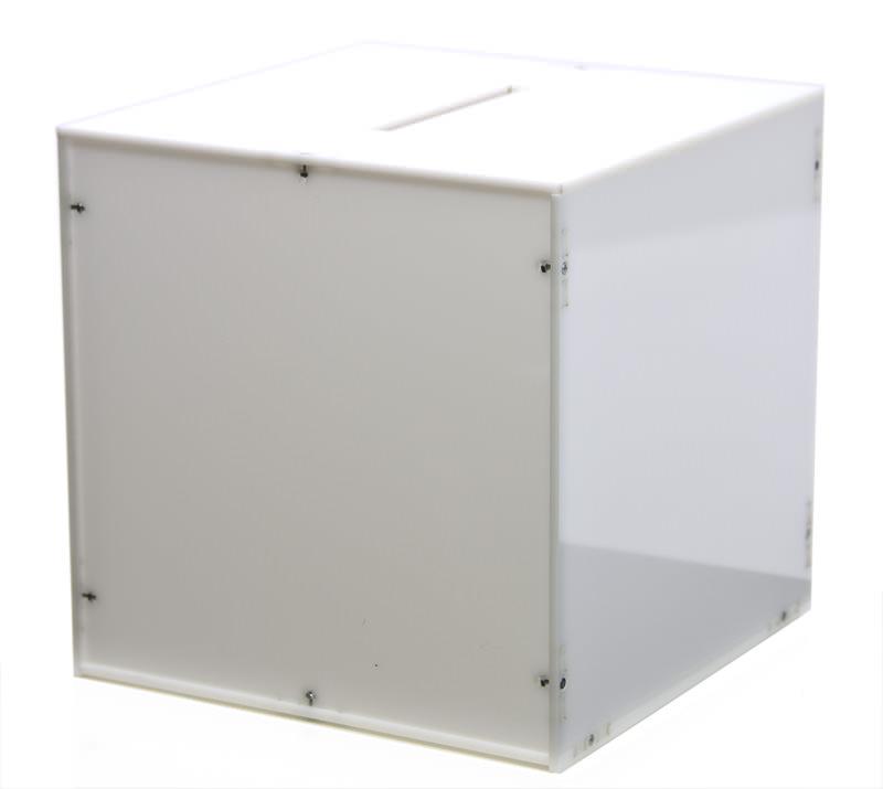 Sora White Acrylic Box 23 x 23 x 23 cm