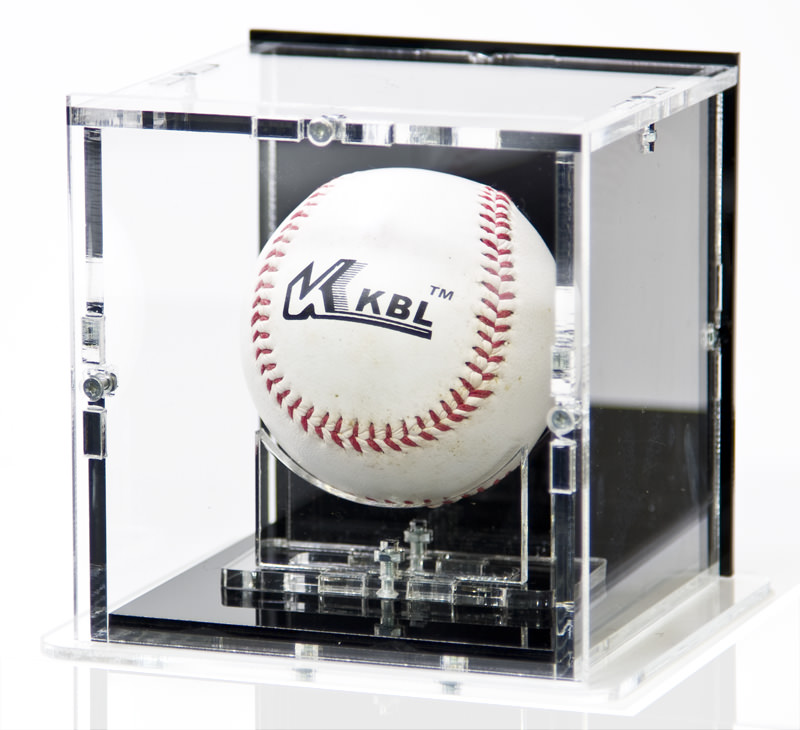 Baseball Display Case with Baseball Stand