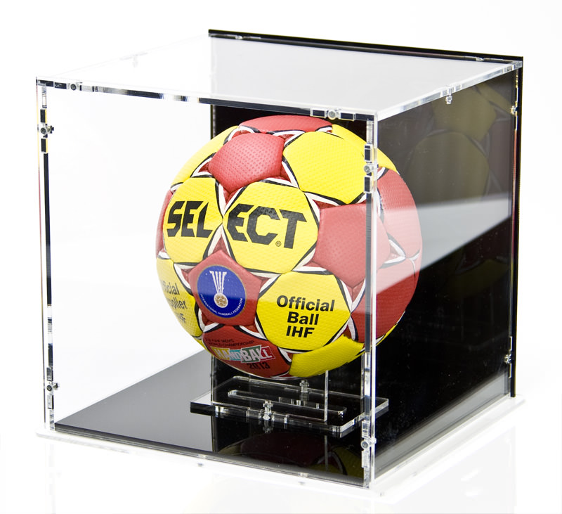 Handball Display Case with Handball Stand