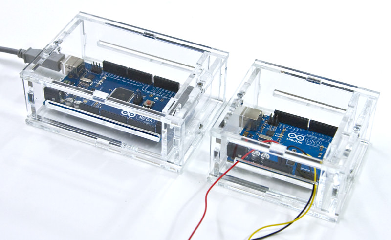 Both cases for Arduino UNO and Arduino MEGA