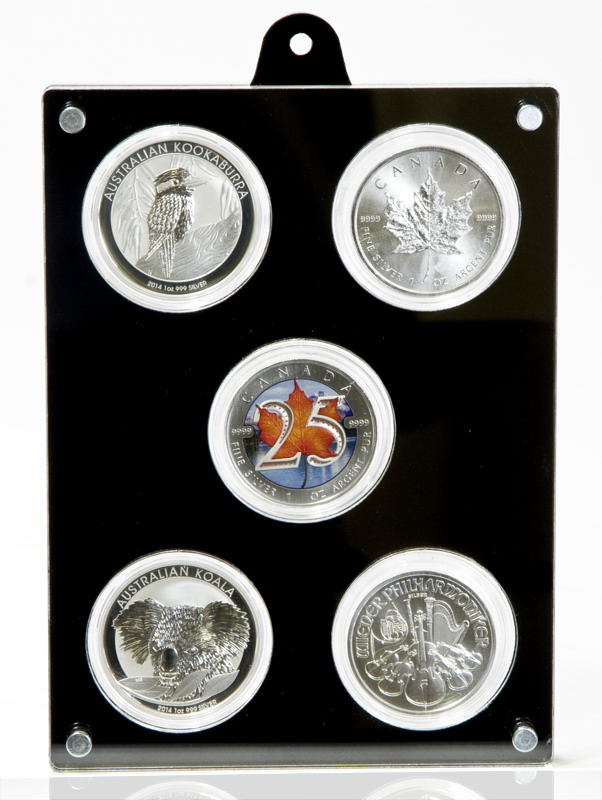 Front view of the coin case