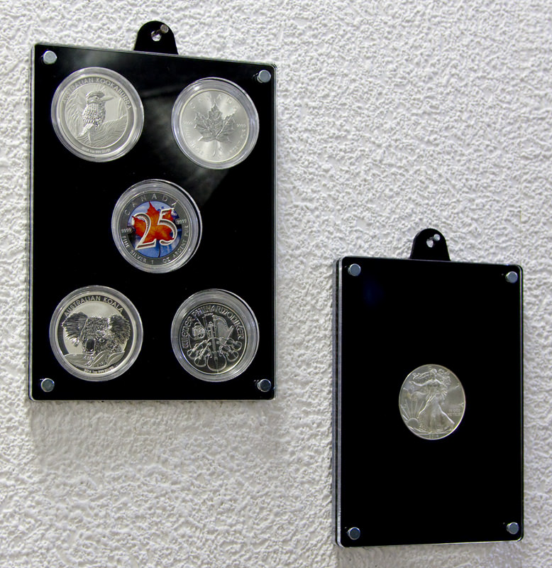 Coin frame front view