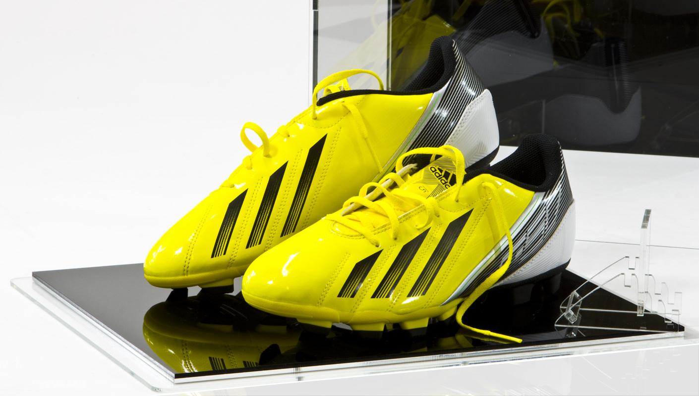 Football Shoe Display Case open