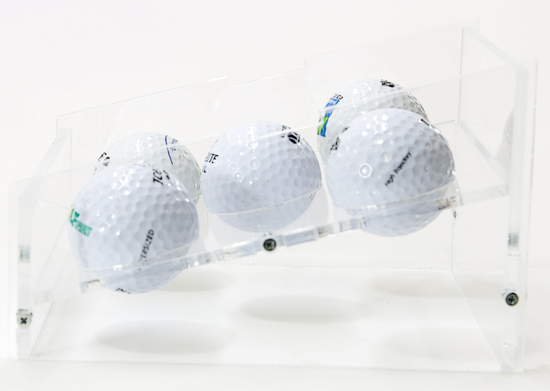 Side Perspective of the Table-Top Golf-Ball Display Case