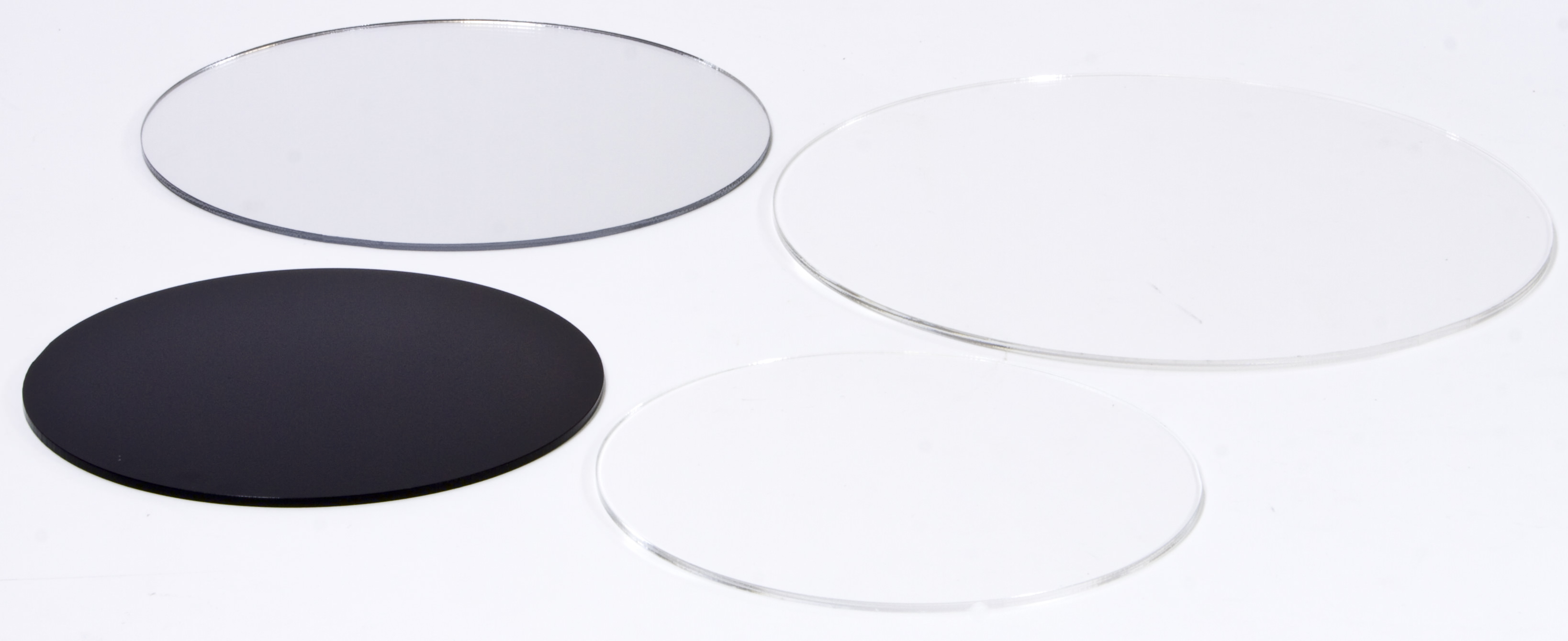 runder acrylzuschnitt kreiszuschnitt aus plexiglas transparent schwarz oder. Black Bedroom Furniture Sets. Home Design Ideas