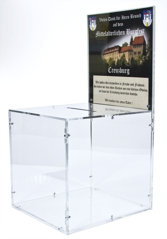 Side view of the promotion box