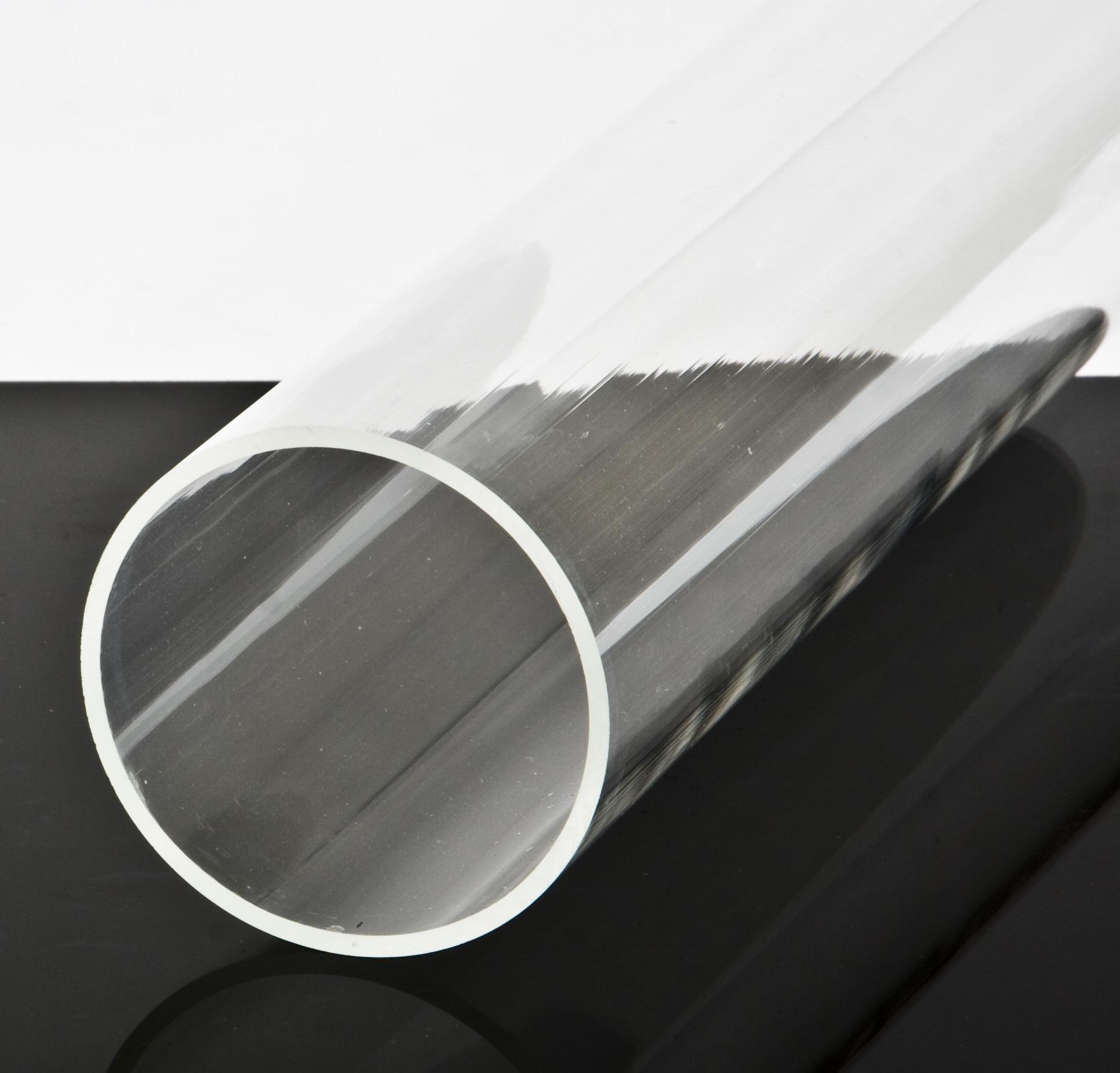 preishit restposten plexiglas rohr acrylrohr d 50 80 mm l 65 67 cm ebay. Black Bedroom Furniture Sets. Home Design Ideas