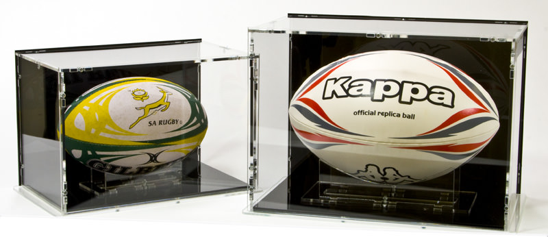 Rugby Ball Display Cases for Sizes 5 and 3